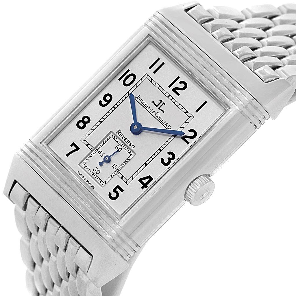 20066 Jaeger LeCoultre Reverso Grande Taille Steel Watch 270.8.62 Box Papers SwissWatchExpo