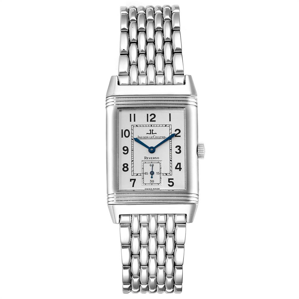 Jaeger LeCoultre Reverso Grande Taille Steel Watch 270.8.62 Box Papers SwissWatchExpo