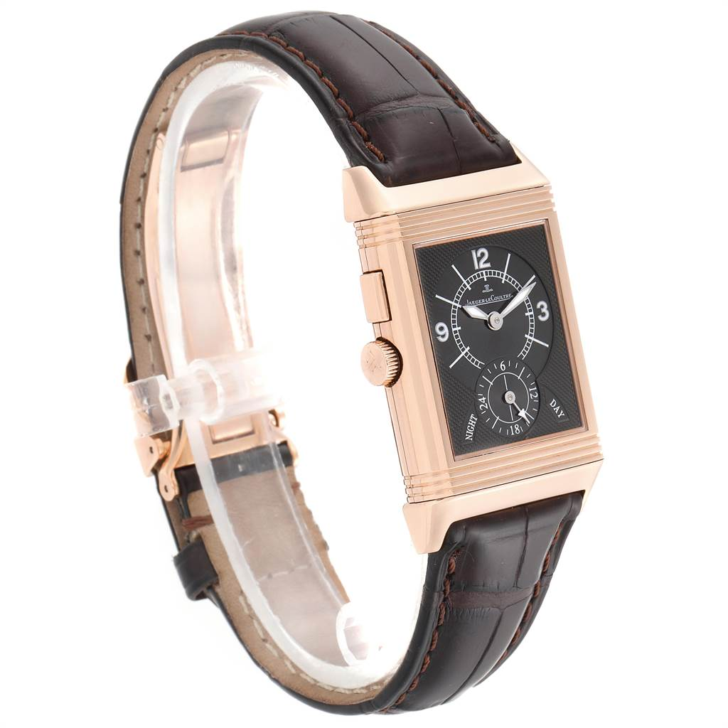 19913 Jaeger LeCoultre Reverso Duo Second Time Zone Rose Gold Mens Watch 272.2.54 SwissWatchExpo