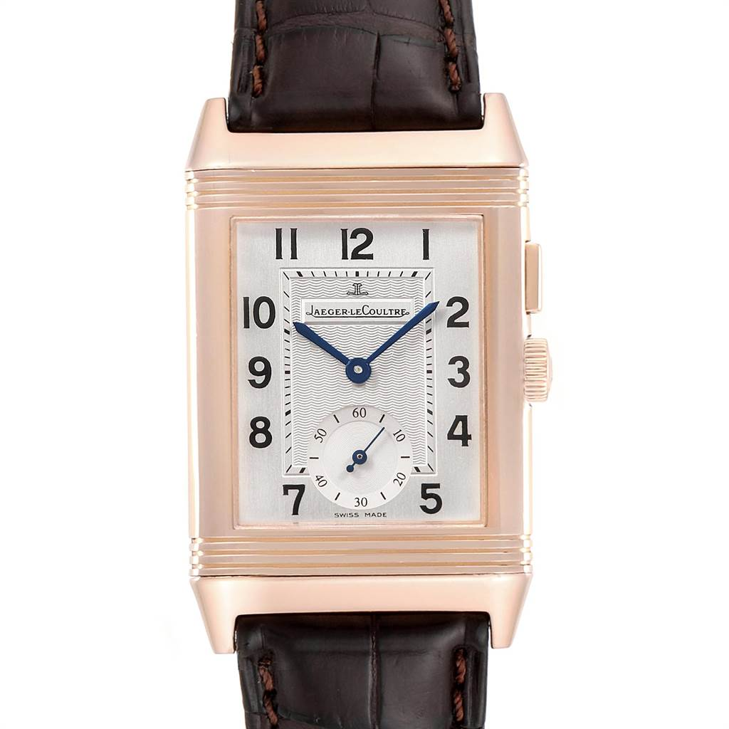 Jaeger LeCoultre Reverso Duo Second Time Zone Rose Gold Mens Watch 272.2.54 SwissWatchExpo