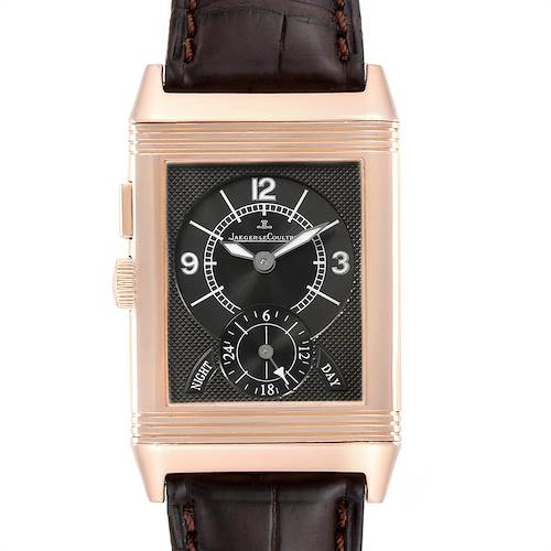 Photo of Jaeger LeCoultre Reverso Duo Second Time Zone Rose Gold Mens Watch 272.2.54