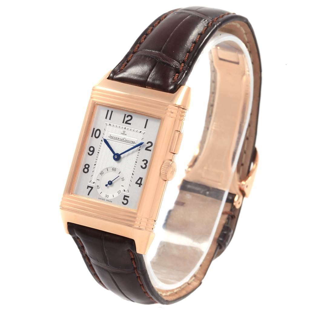 19913 Jaeger LeCoultre Reverso Duo Second Time Zone Rose Gold Watch 272.2.54 SwissWatchExpo