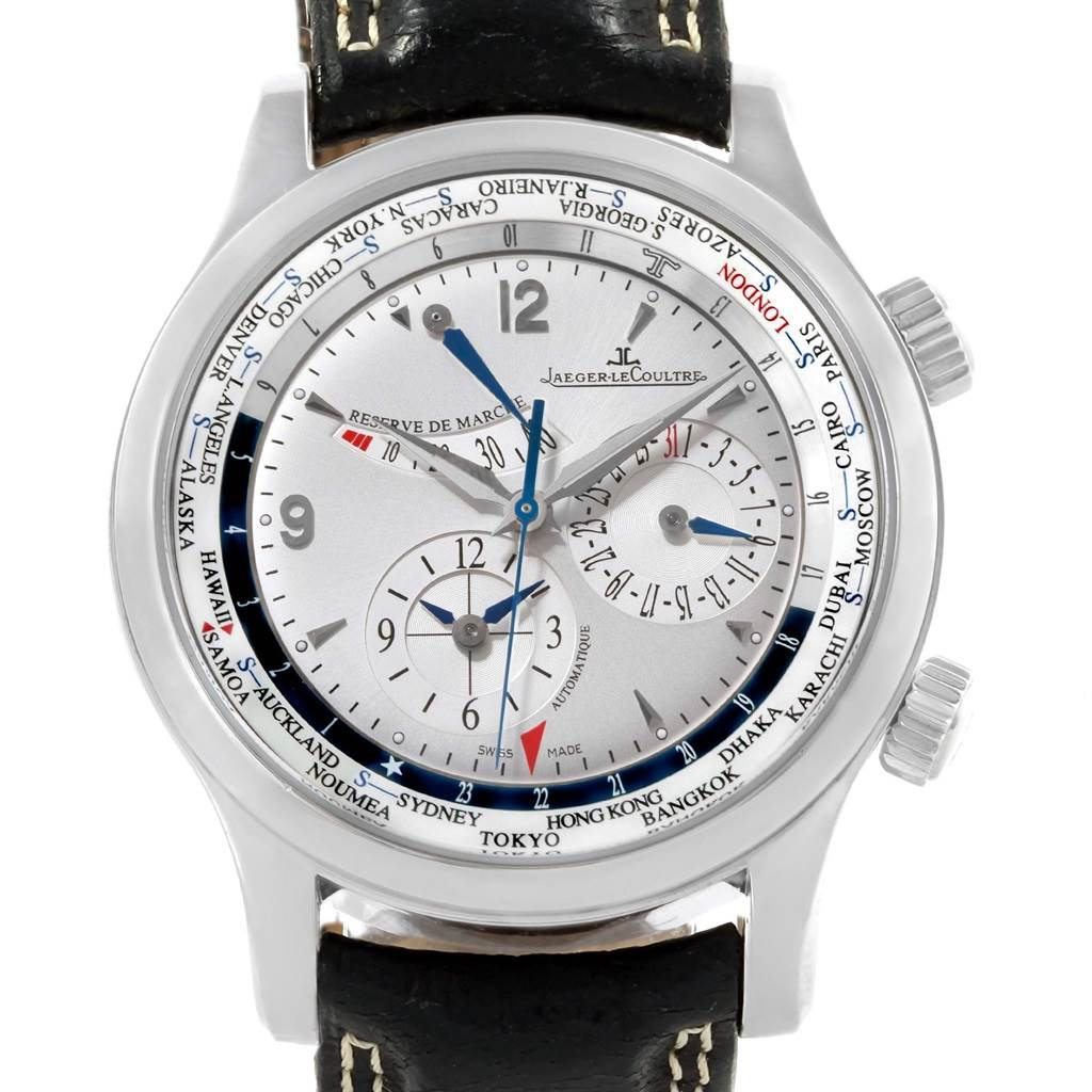 20124 Jaeger Lecoultre Master World Geographic Watch 146.8.32.S Q1528420 SwissWatchExpo