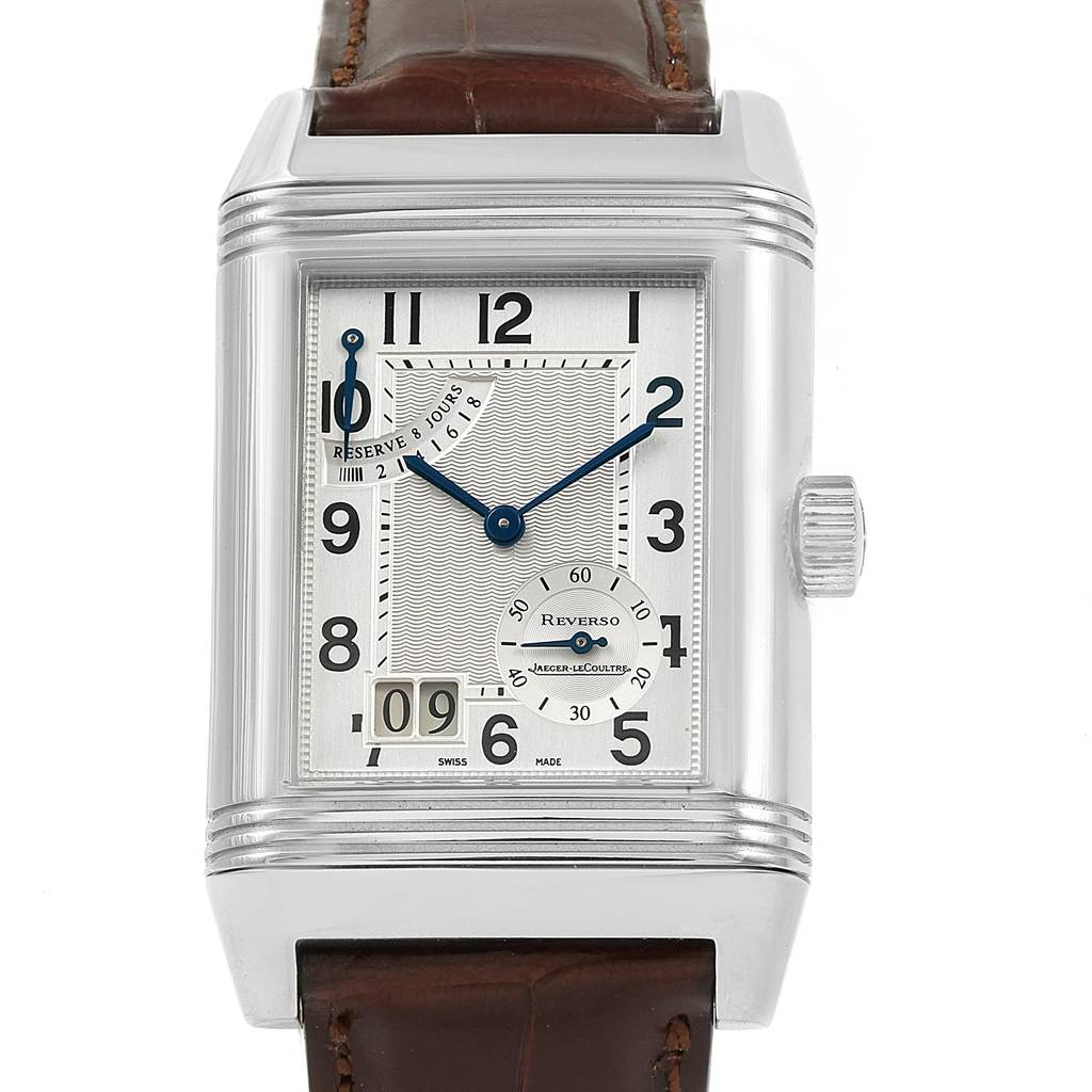 21206 Jaeger LeCoultre Reverso XGT Grande Date 8 Day Mens Watch 240.8.15 SwissWatchExpo