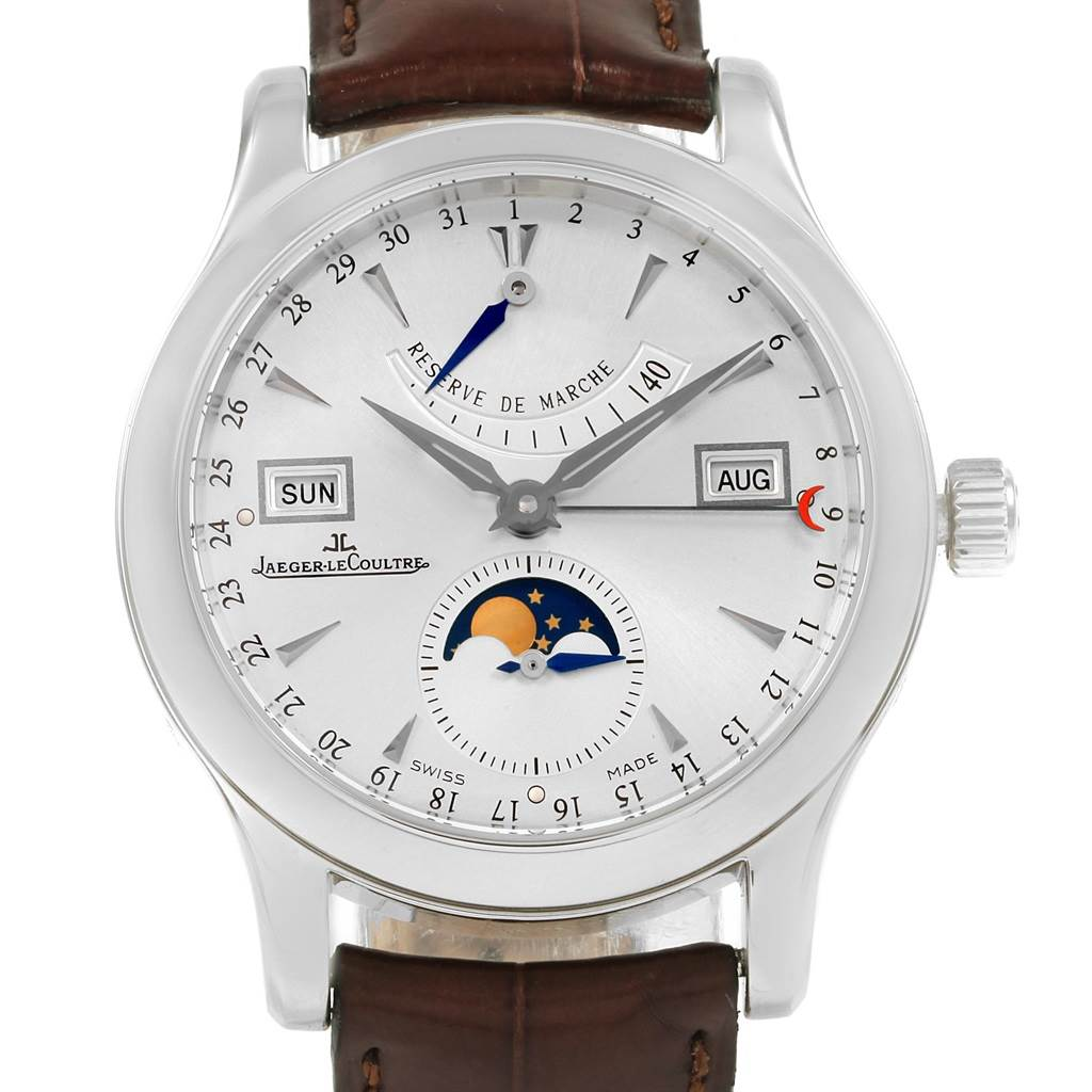 21061 Jaeger Lecoultre Master Control Calendar Mens Watch 147.8.41.S SwissWatchExpo