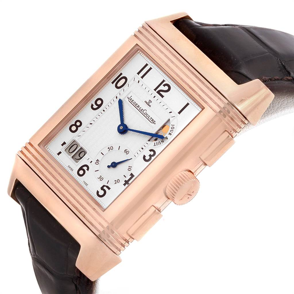 21440 Jaeger LeCoultre Reverso Grande GMT Rose Gold Watch 240.2.18 Q3022420 SwissWatchExpo
