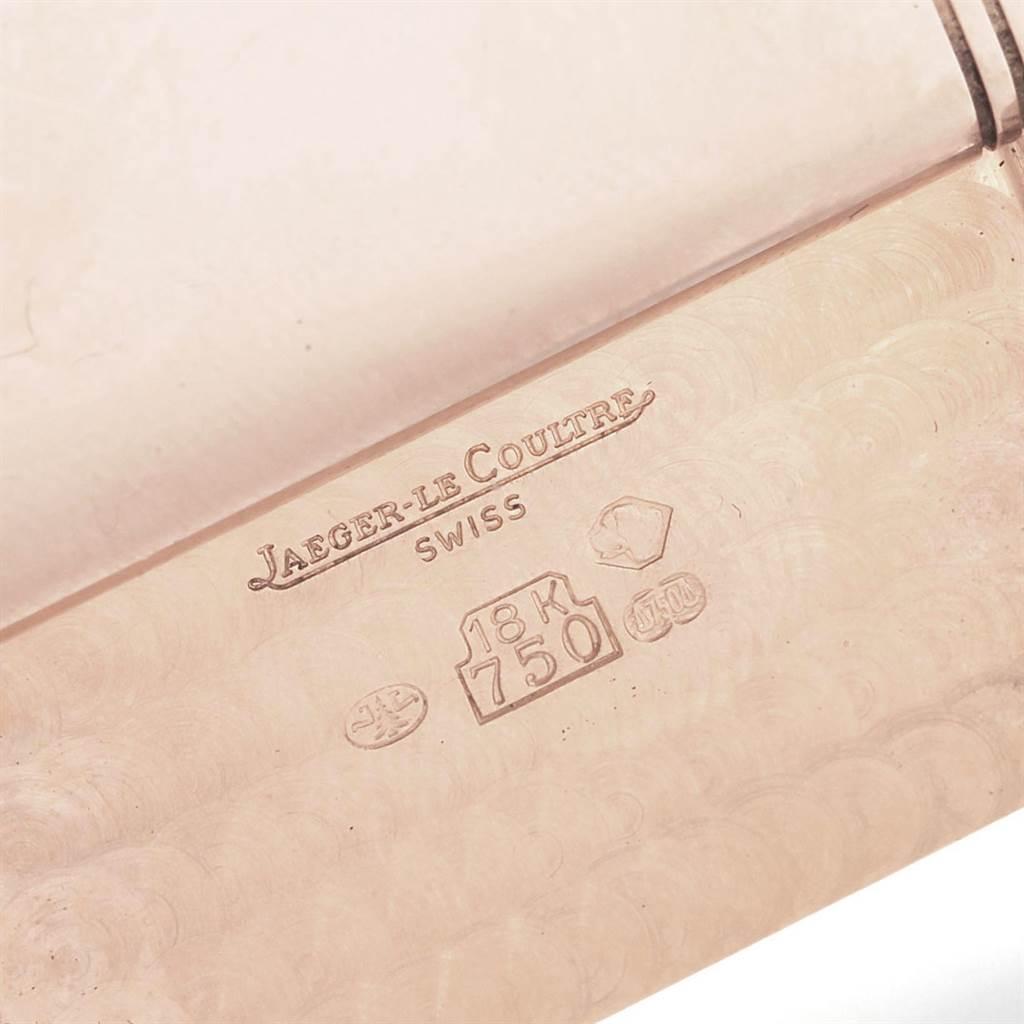 Jaeger LeCoultre Reverso Art Deco Rose Gold Mens Watch 270.2.62 SwissWatchExpo