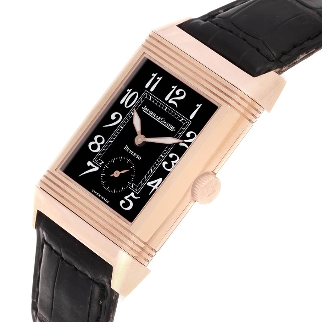 22054 Jaeger LeCoultre Reverso Art Deco Rose Gold Mens Watch 270.2.62 SwissWatchExpo
