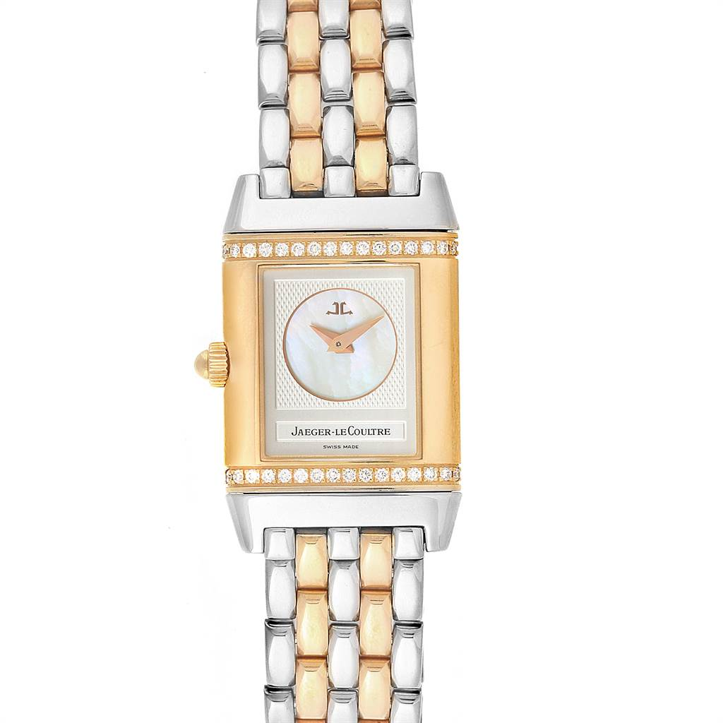 Photo of Jaeger LeCoultre Reverso Duetto Steel Gold Diamond Watch 266.8.44