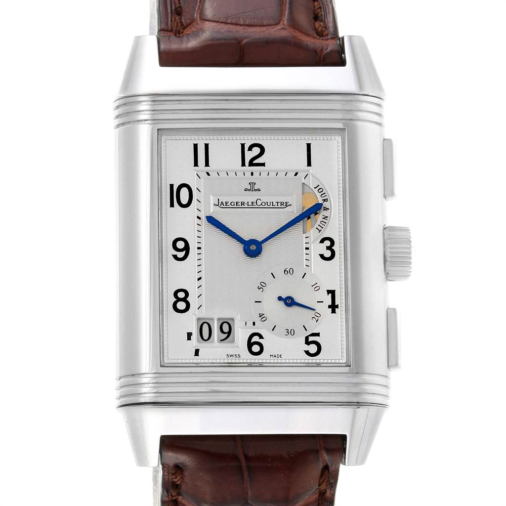 22729 Jaeger LeCoultre Reverso Grande GMT Steel Mens Watch 240.8.18 Q3028420 SwissWatchExpo
