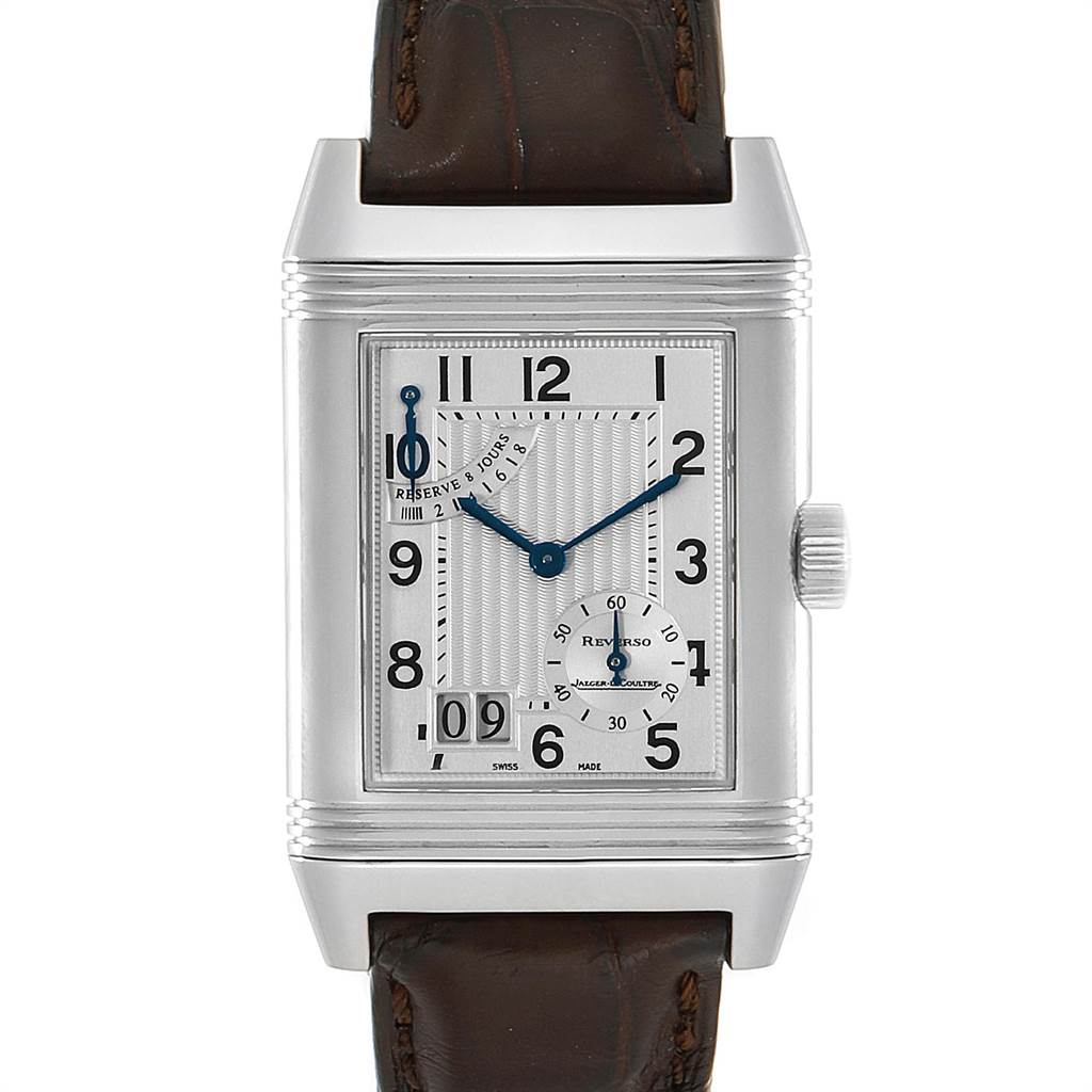 Jaeger LeCoultre Reverso XGT Grande Date 8 Day Mens Watch 240.8.15 SwissWatchExpo