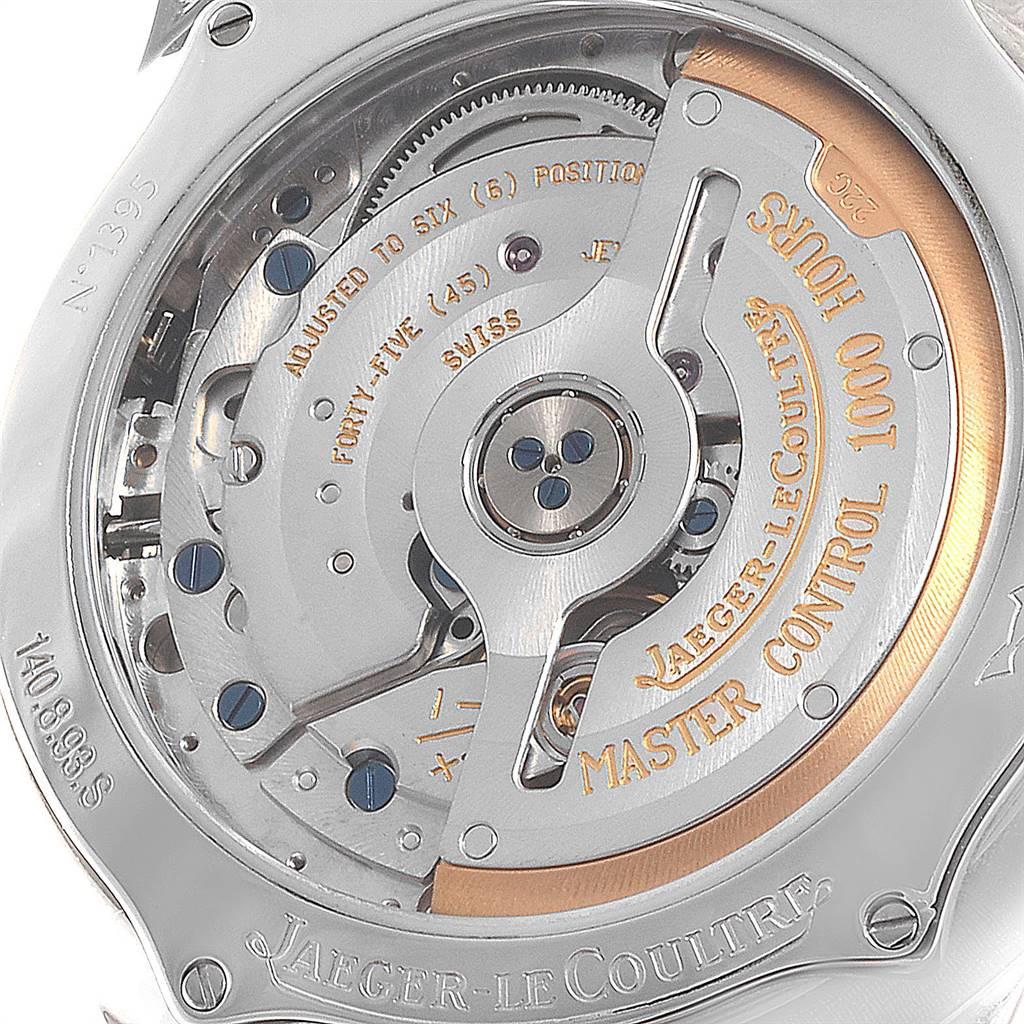 Jaeger Lecoultre Reserve De Marche Date Mens Watch 140.8.93.S SwissWatchExpo