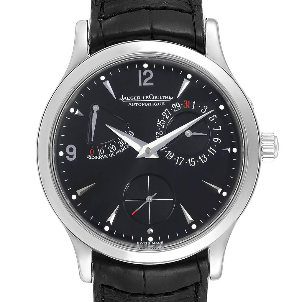 24167 Jaeger Lecoultre Reserve De Marche Date Mens Watch 140.8.93.S SwissWatchExpo