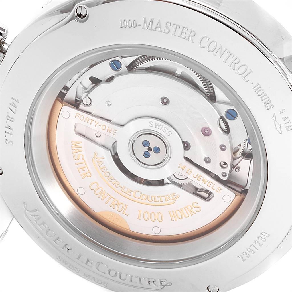 Jaeger Lecoultre Master Calendar Moonphase Steel Mens Watch 147.8.41.S SwissWatchExpo