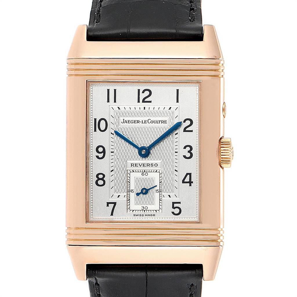 22138 Jaeger LeCoultre Reverso Duo Day Night Rose Gold Watch 270.2.54 Q270254 SwissWatchExpo