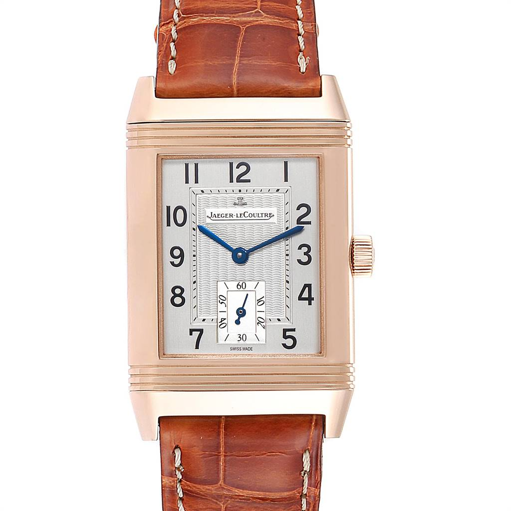 Jaeger LeCoultre Reverso Art Deco Rose Gold Mens Watch 270.2.62