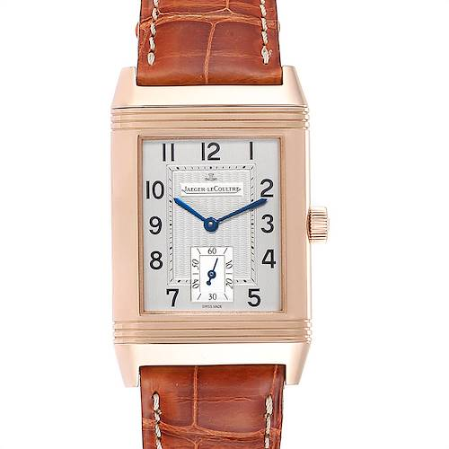 Photo of Jaeger LeCoultre Reverso Art Deco Rose Gold Mens Watch 270.2.62