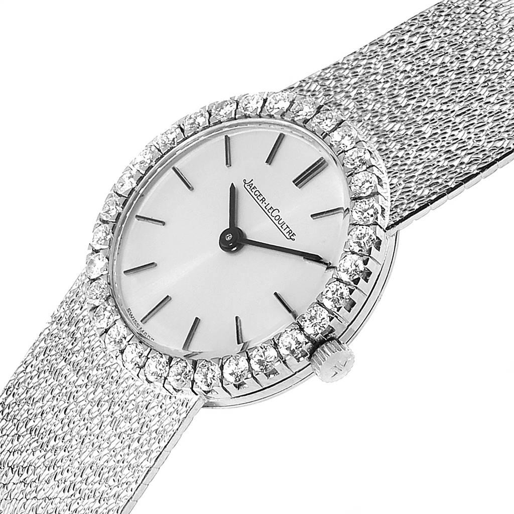 Jaeger LeCoultre 18K White Gold Diamond Vintage Cocktail Ladies Watch SwissWatchExpo