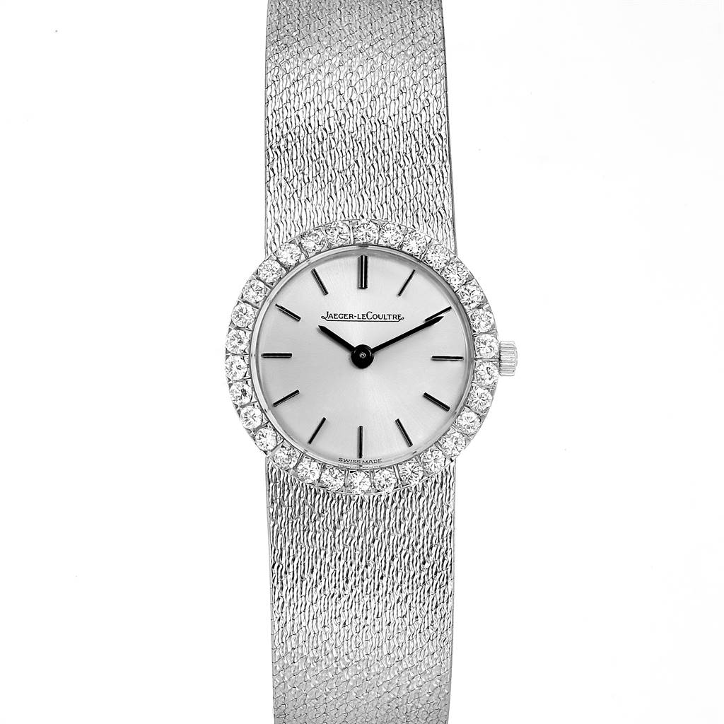 Jaeger LeCoultre 18K White Gold Diamond Vintage Cocktail Ladies Watch