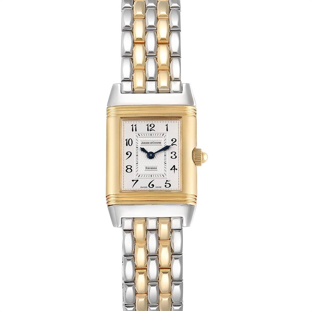 Jaeger LeCoultre Reverso Duetto Steel Gold Diamond Ladies Watch 266.8.44 SwissWatchExpo