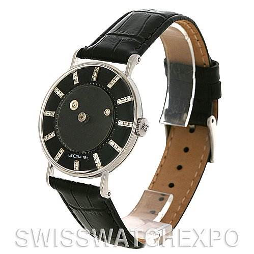 Lecoultre Vacheron Constantin Galaxy Mystery Dial 14K Black Gold Diamond Watch SwissWatchExpo