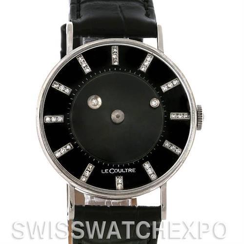 Photo of Lecoultre Vacheron Constantin Galaxy Mystery Dial 14K Black Gold Diamond Watch