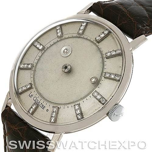 2952 Lecoultre Vacheron Constantin Galaxy Mystery Dial 14K White Gold Diamond Watch SwissWatchExpo