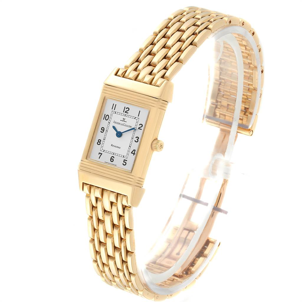 Jaeger LeCoultre Reverso Silver Dial Yellow Gold Ladies Watch Q2611110 SwissWatchExpo