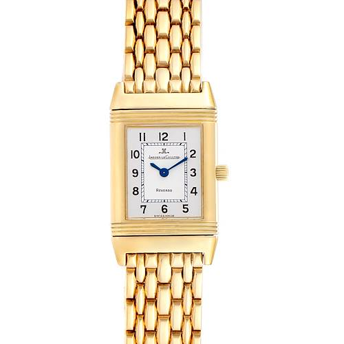 Photo of Jaeger LeCoultre Reverso Silver Dial Yellow Gold Ladies Watch Q2611110