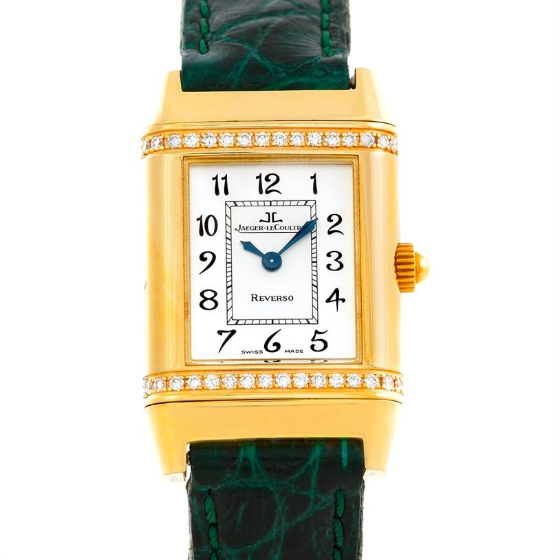 Photo of Jaeger LeCoultre Reverso Lady 18K Yellow Gold Diamond Watch 265.1.08