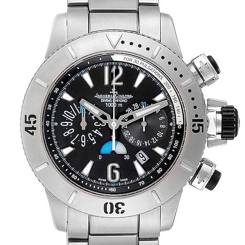 Photo of Jaeger Lecoultre Master Compressor Diving Chrono Titanium Mens Watch 160.T.25