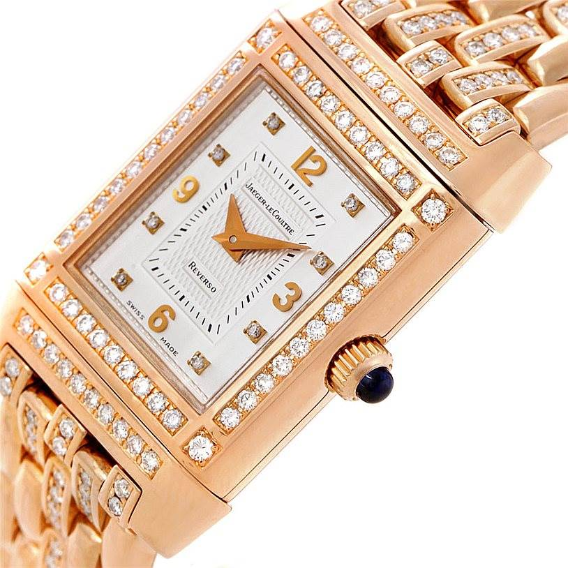 8005 Jaeger LeCoultre Reverso 18K Rose Gold Ladys Watch 267.2.86 SwissWatchExpo