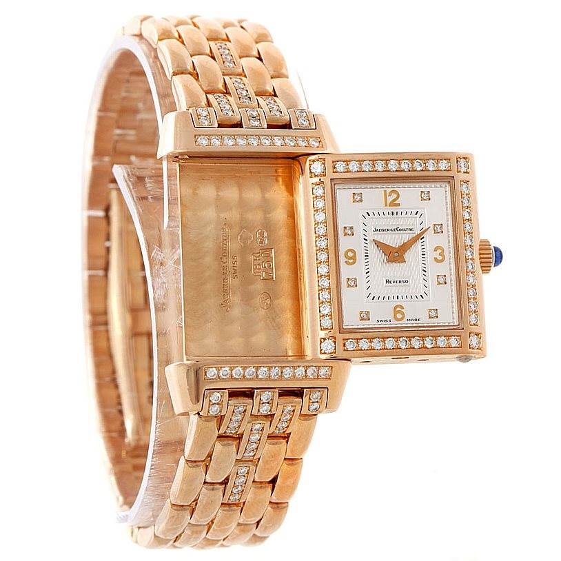 Jaeger LeCoultre Reverso 18K Rose Gold Ladys Watch 267.2.86 SwissWatchExpo