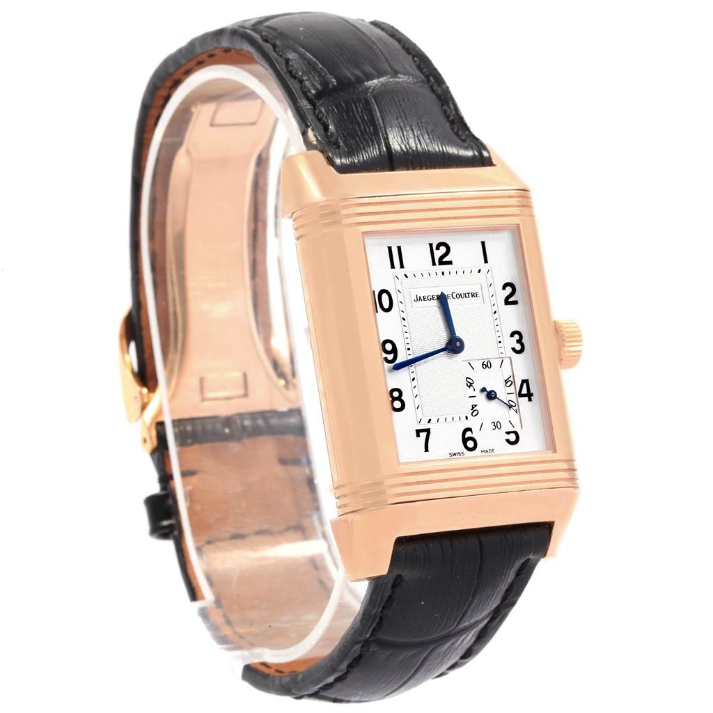 8612pa Jaeger LeCoultre Reverso Grande Reserve Rose Gold Watch 301.24.20 Box Papers SwissWatchExpo