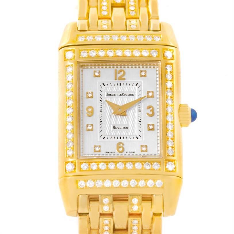 Photo of Jaeger LeCoultre Reverso 18K Yellow Gold Diamond Ladies Watch 267.1.86