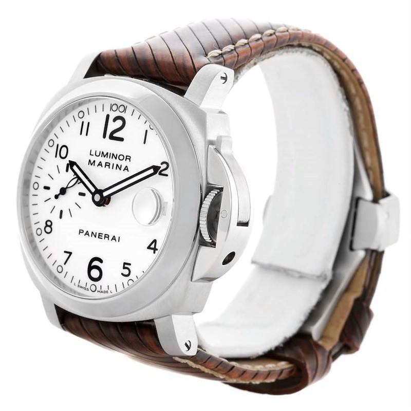 Panerai Luminor Marina 40mm White Dial Automatic Watch PAM049 PAM00049 SwissWatchExpo