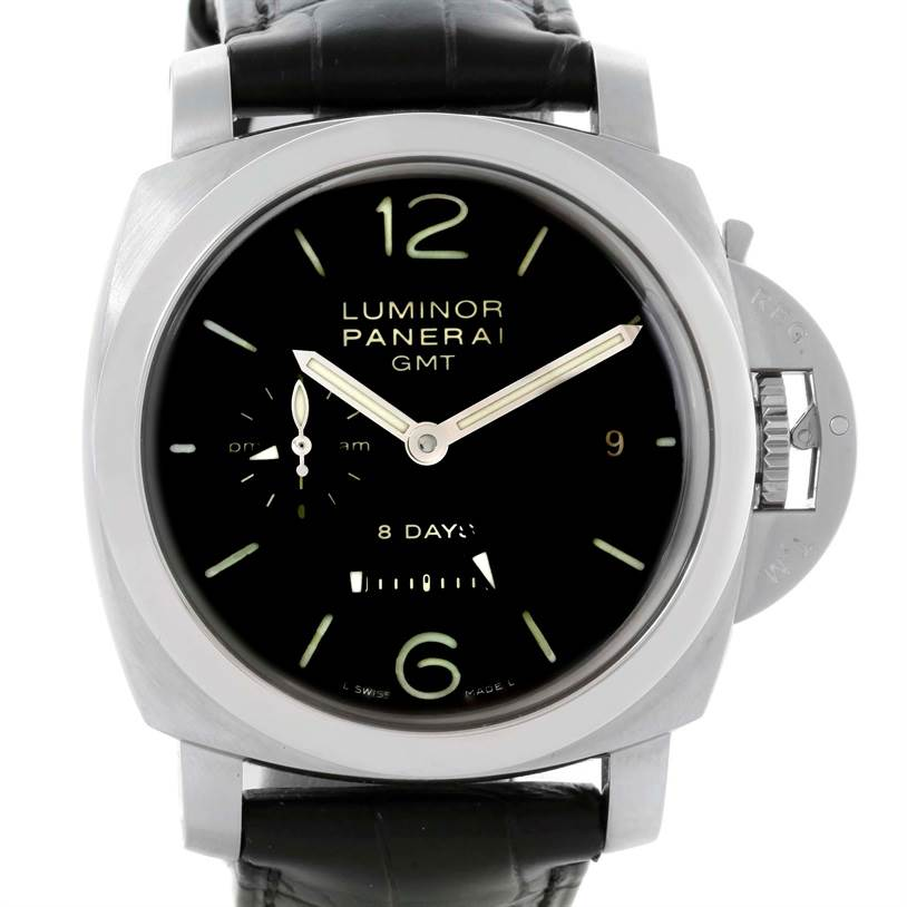Panerai Luminor 1950 8 Days GMT 24H Watch PAM233 PAM00233 Unworn