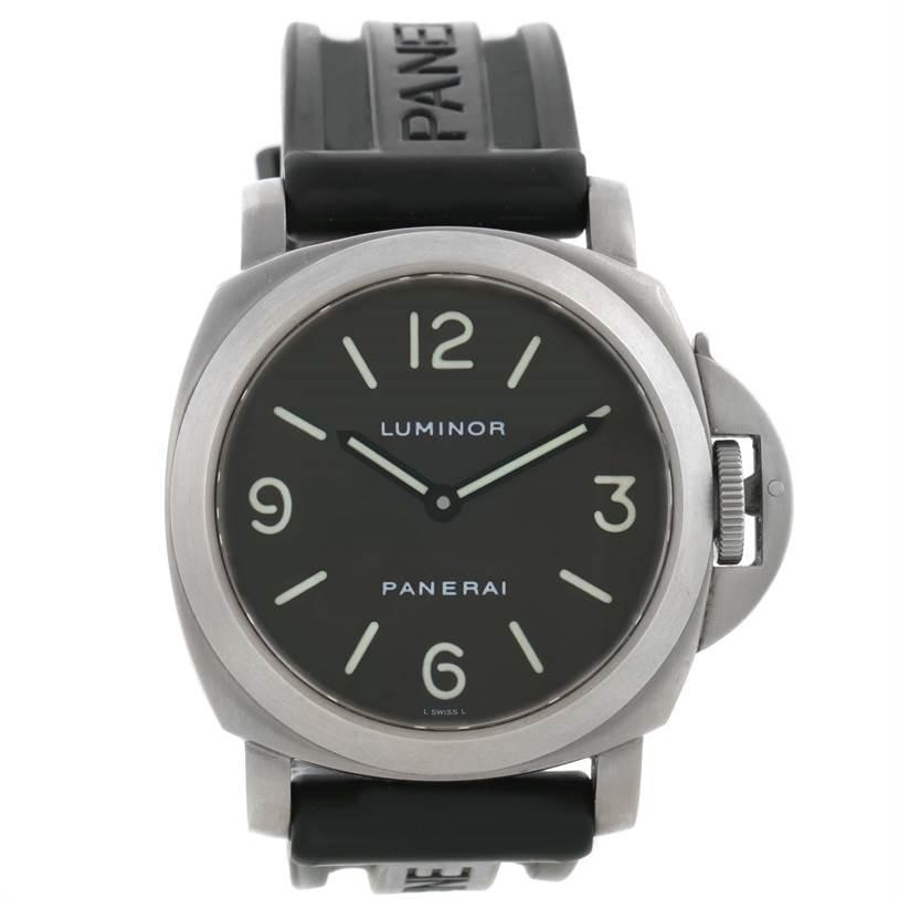 quality design 8ffdb e73e6 Panerai Luminor Base 44mm Titanium Watch PAM055 PAM00055