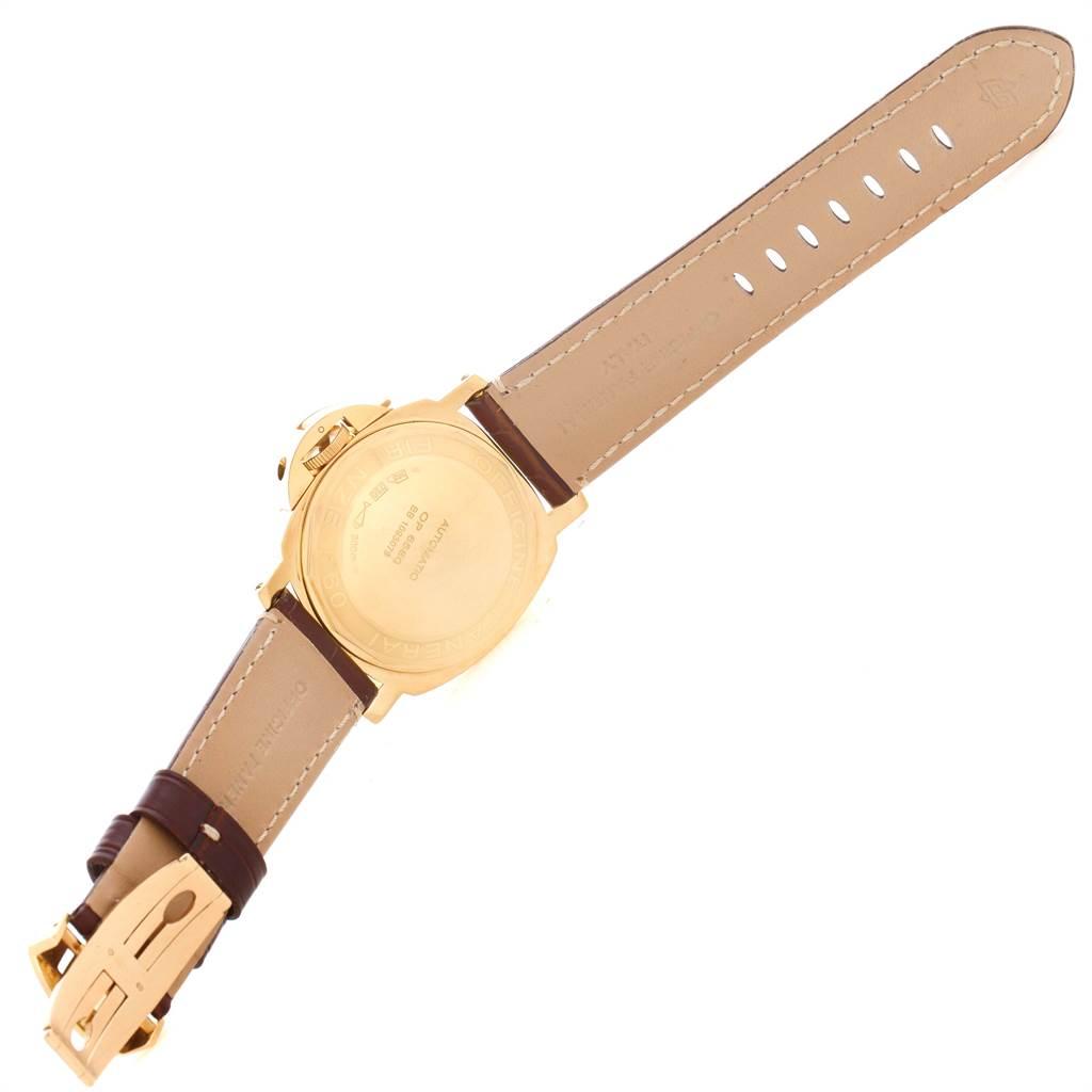 11666A Panerai Luminor Marina 44 Yellow Gold Watch PAM00140 Box Papers SwissWatchExpo