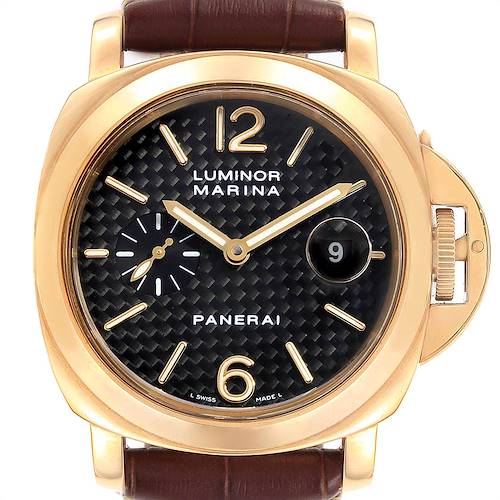 Photo of Panerai Luminor Marina 44 Yellow Gold Watch PAM00140 Box Papers