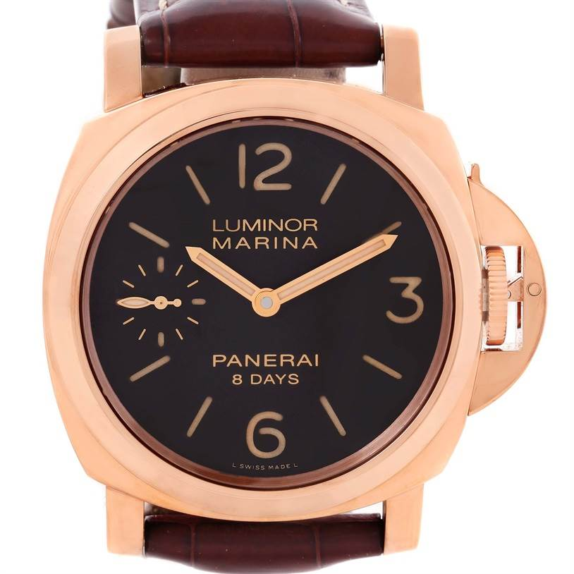 11923 Panerai Luminor Marina 8 Days Oro Rosso 18K Rose Gold Watch PAM00511 SwissWatchExpo