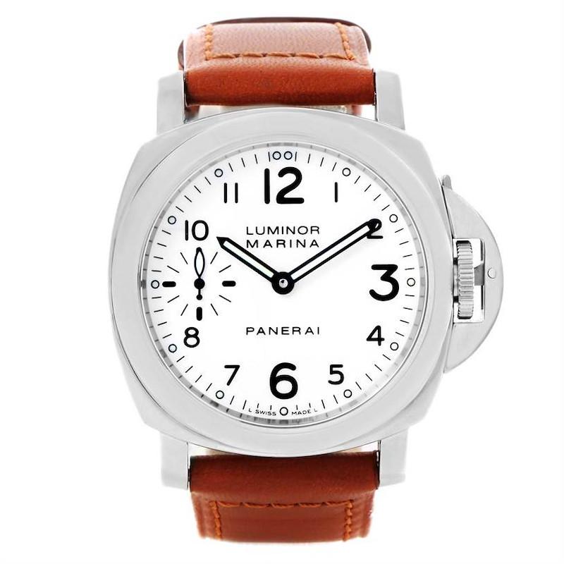 Panerai Luminor Marina 44mm White Dial Watch PAM113 PAM00113 Unworn SwissWatchExpo