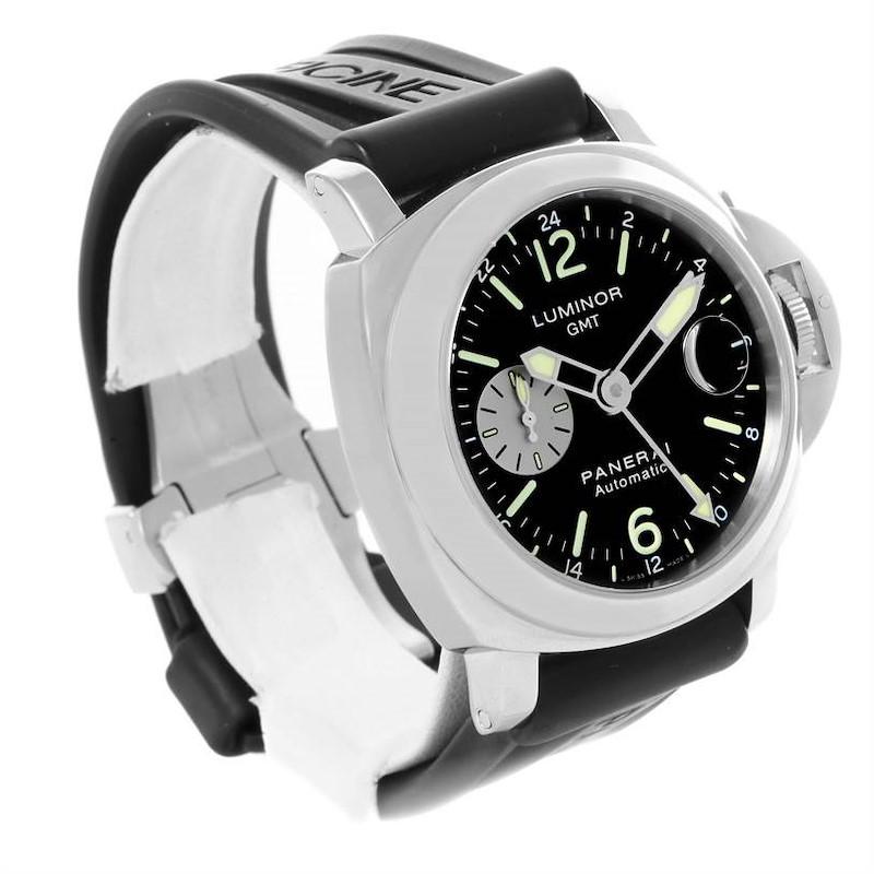 Panerai Luminor GMT Rubber Strap Automatic Mens Watch PAM00088 SwissWatchExpo
