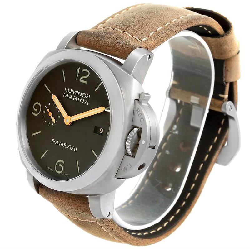 Panerai Luminor Marina 1950 3 Days Titanium 44mm Watch PAM00351 SwissWatchExpo