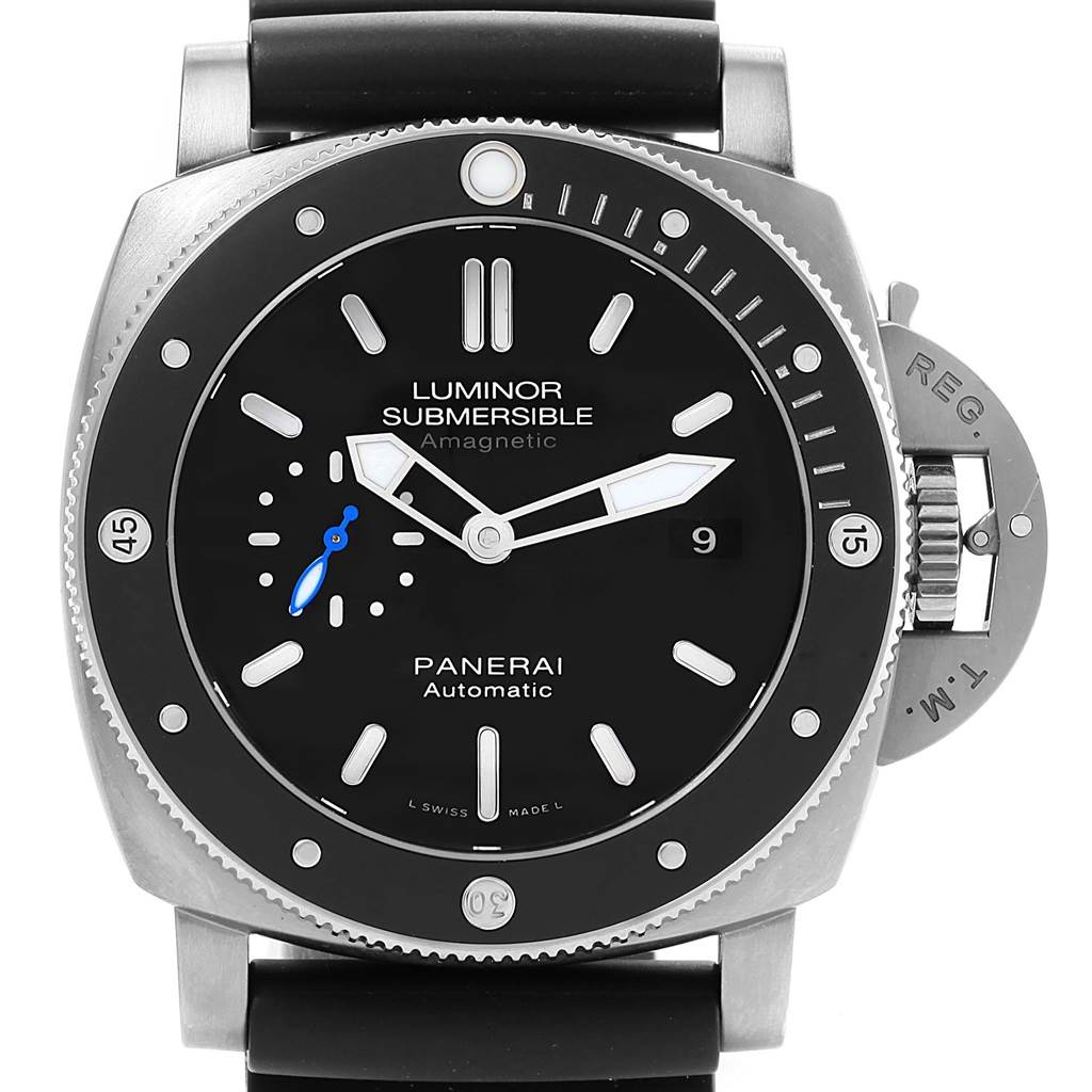 Panerai Luminor Submersible 1950 Amagnetic 3 Days Watch PAM01389 Titanio