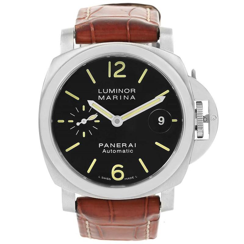 Panerai Luminor Marina Automatic Mens Watch PAM104 PAM00104 Box Papers SwissWatchExpo