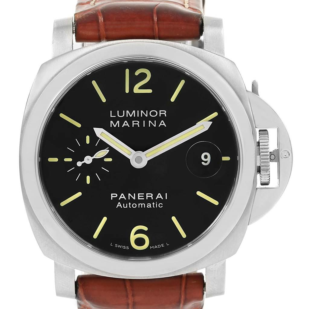 Panerai Luminor Marina Automatic Mens Watch PAM104 PAM00104 Box Papers