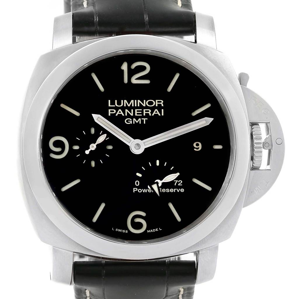 Panerai Luminor Marina 1950 3 Days GMT Watch PAM321 PAM00321 Unworn