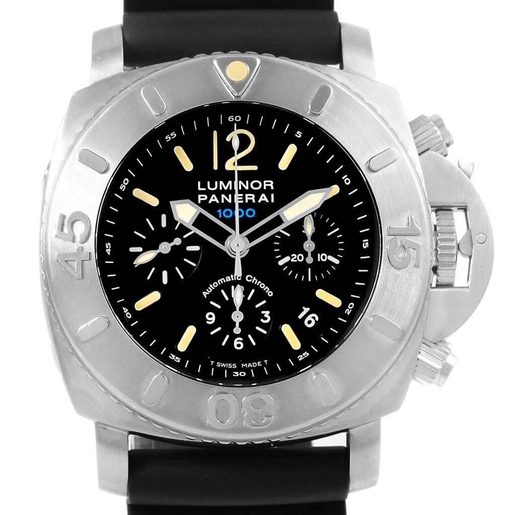 Panerai Luminor Submersible Chrono 1000M 47mm Watch PAM187 Box Papers