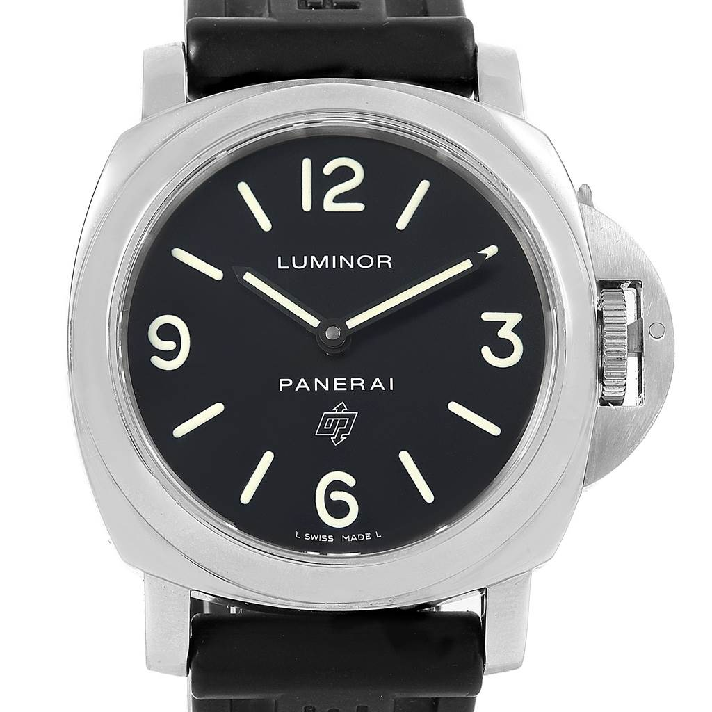 Panerai Luminor Base Logo 44mm Steel Mens Watch PAM000 PAM00000